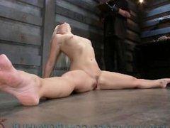 Flexible Blonde Recieves Slave Training