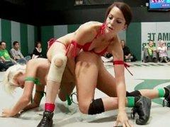 Naked Chick Wrestling