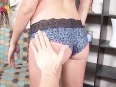 ThisGirlSucks Teen Cassandra Nix rough blowjob deepthroat cum swallow