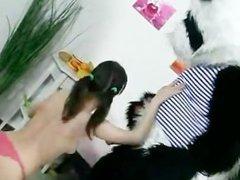 Girls Fucks A Toy Panda