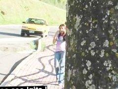 Adorable Bolivian latina Sofia Gomez rides a fat dick