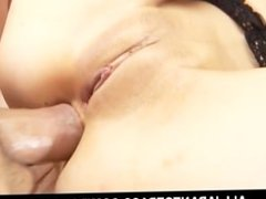 Megumi Morita has her shaved pussy and ass fingered at the same time