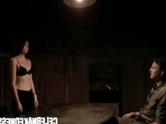 Celebnakedness lauren cohan holding her breasts on the walking dead