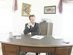 Kathy Anderson office fuck in anal