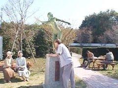 Free jav of Crazy Japanese bronze statue part4