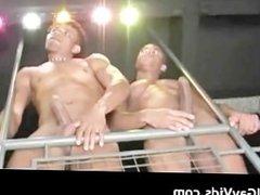 Steamy hot Latin gay threesome hardcore part1