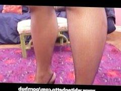 Latina BBW with Big Tits n Stockings Creampied