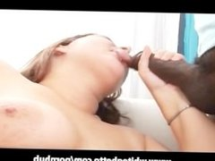 BBW MILF with Big Tits Sucks Big Black Cock