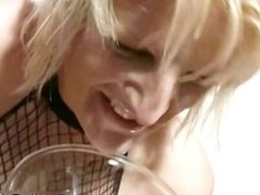 Cum loving blonde gets covered with cum part5