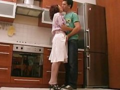 Hot anal sex in the kitchen