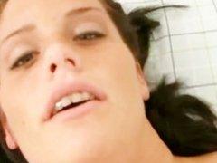 SoloInterviews Natural big tits Whitney striptease dildo masturbation