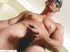 Amazing masked hunk jerking off cock part5