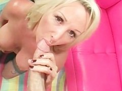 Cock riding with trashy blonde MILF