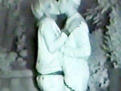Couples flirting in the corner street