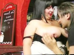Bar owner bangs huge titted barmaid