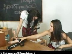 Teen students having hot lesbian sex part1