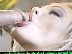 Horny bit-titted MILF sucks a hard cock