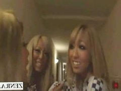 Subtitled Japanese gyaru group CFNM fellatio in hotel