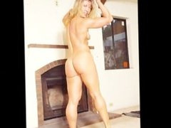 Blonde FBB Fucked after a workout