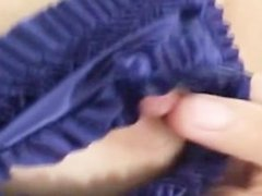 violet vibrator in a asian asshole