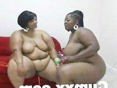 BBW Ebony Lesbian Couple Sex