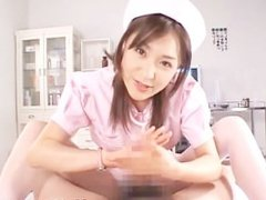 Asian nurse sucks hot cock part3