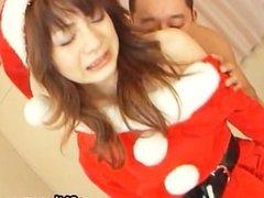 Hot Teen Asian Babe in Santa costume part5