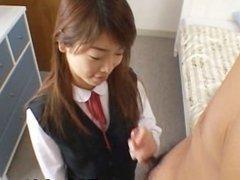 Ami Hinata sweet Asian schoolgirl enjoys part2