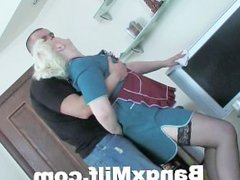 Blonde Milf Fingered And Fucked Hard