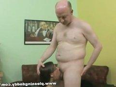 Mature Tutor Gets A Blowjob From Horny Young Slut