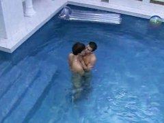 Beautiful boys having sex in pool part2