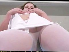 Nurse Erica strips off her stockings