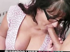 BBW rides stranger's big cock
