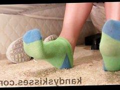 Green Socks Toe Point