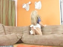 Very hot blonde babe Randy shows her part5