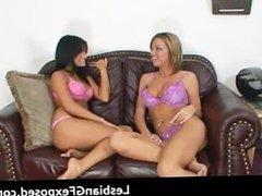 Hardcore lesbian babes strapon banging part6