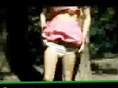 Horny babes outdoor masturbation