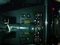 Girl squirting on gear shifter