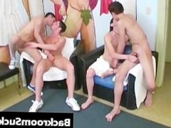 Orgy in Lounge free gay porn part1
