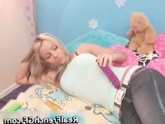 Dildoing french nympho bedroom screwing part5