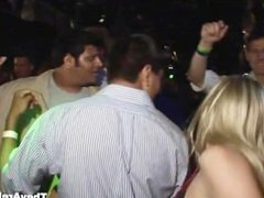 Wonderful curvy girls dancing and getting naked at the night club