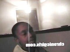 Ghetto black goon got college ho skippin to suck dick