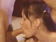 massage turns into bisexual threesome