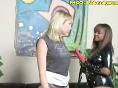 Rough Interracial Lesbianism For Blonde