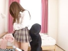 Hot Japanese school girl has a morning part6