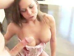 Rachel Roxxx swallows a big one
