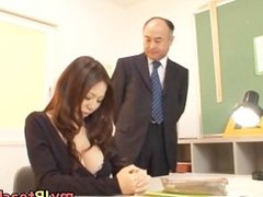 Busty Teacher Ruri Saijo Bounces part1