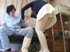 Super sexy Japanese nurses sucking part2