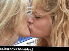 Charming lesbian cuties making out part5