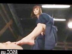 Japanese kendo teen gives fetsih blowjob and handjob 01